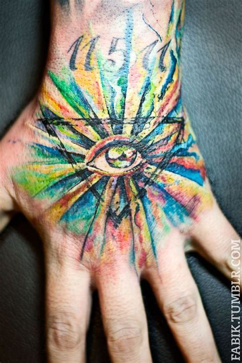 eye hand tattoo  fabik liedmeier