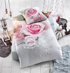 Stoff Mit Rosenmuster : romantische bettw sche mit rosenmuster aus 100 baumwolle mit dieser charmanten bettw sche ~ Buech-reservation.com Haus und Dekorationen