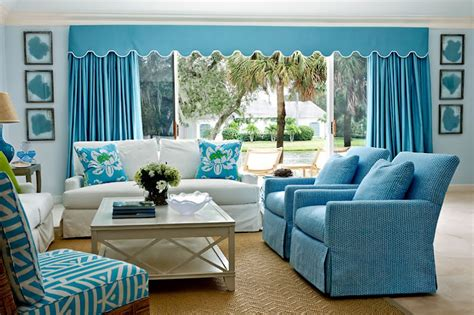 Aqua Colored Home Decor: Interior Design: Quadrille Fabrics
