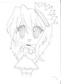Chibi Anime Girl Body Outline