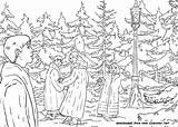 Narnia Coloring Pages Chronicles Lucy Printable Peter Lamppost Witch Film Elixir Claus Faun Visiting Santa Got sketch template