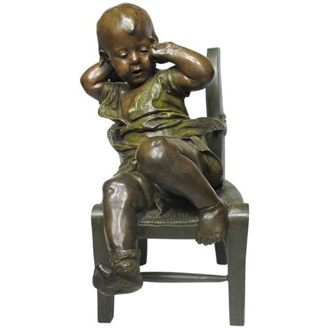 19th century patinated bronze sculpture quot l 39 enfant