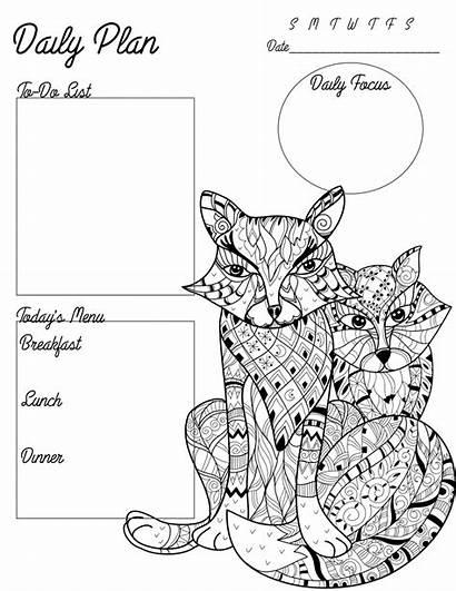 Coloring Printable Adult Planner Printables Pages Survivingateacherssalary