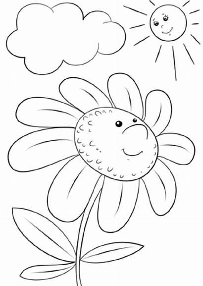 Coloring Cartoon Flower Dibujos Character Margarita Colorear