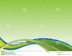 Flow, Background, Green, Stock, Vector, Illustration, Of