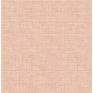 Brewster 56.4 sq. ft. Twine Blush Grass Weave Wallpaper ...