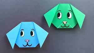 Origami Für Anfänger : origami hund basteln mit papier einfaches origami tier ~ A.2002-acura-tl-radio.info Haus und Dekorationen