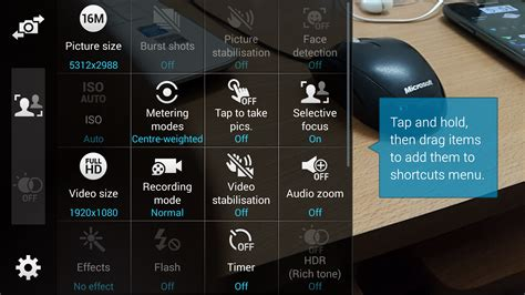 top  apps  pre focus  blur background camera