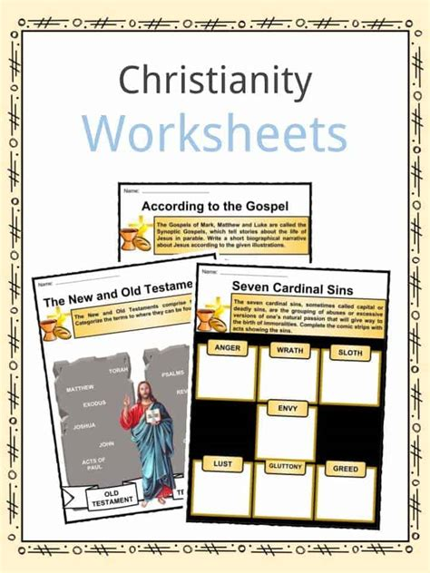 christianity facts worksheets religion history  kids