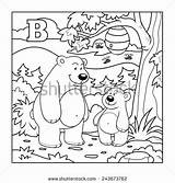 Coloring Peninsula Kamchatka Designlooter Colorless Alphabet Bear Letter Children sketch template