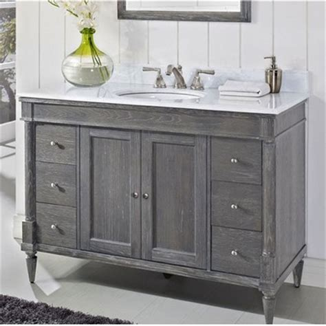 rustic chic 48quot traditional single sink vanity silvered