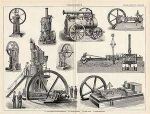 Antique Print of Steam Engines - 1894 - Industrial Steam ...