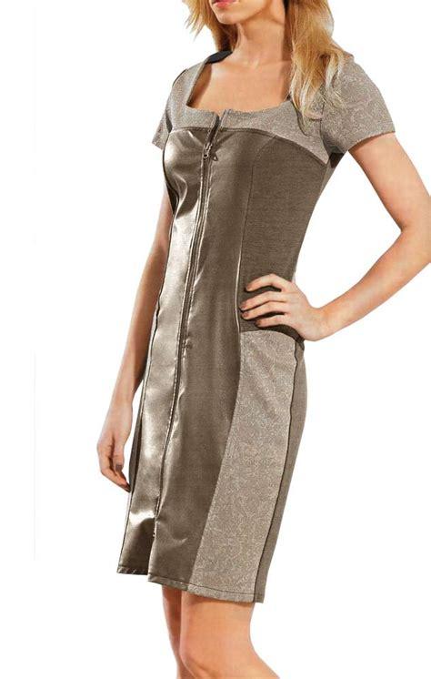 heine patchwork kleid taupe  groesse  kaufen bei