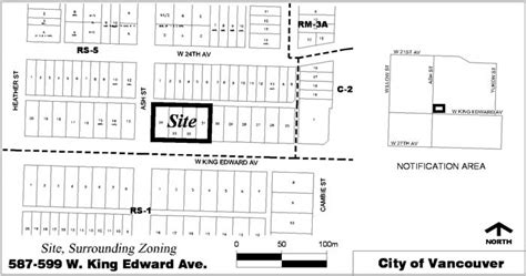 Rezoning Application, 587599 West King Edward Avenue