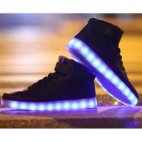 le led pas cher chaussures montante femme homme led usb rechargeable 7 couleurs chaussure led clignantes unisexe
