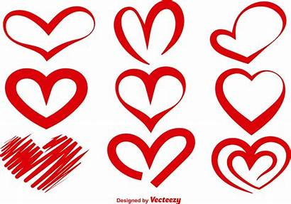 Heart Vector Silhouettes Silhouette Hearts Clipart Vectors