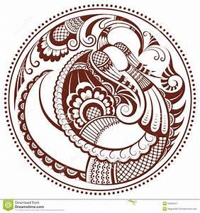 Phoenix Bird Drawing Abstract Phoenix Bird In Mehndi Style Stock Vector