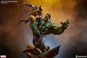 Clash Of Lights Marvel Hulk Vs Wolverine Maquette By Sideshow Collectibles