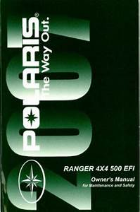 2007 Polaris Ranger 4x4 500 Efi Owners Manual