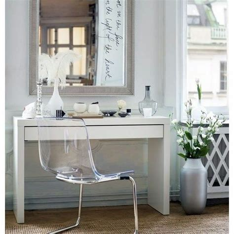 Glass Vanity Makeup Table by Ikea White Malm Dressing Table With Glass Top Brand New