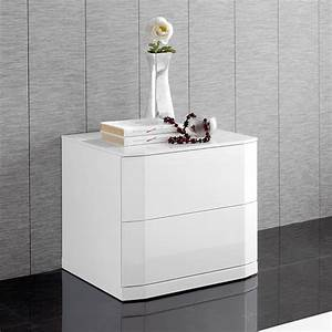 Table Chevet Design : table de chevet design 2 tiroirs tacito zd1 chv a d ~ Teatrodelosmanantiales.com Idées de Décoration