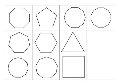 properties  regular polygons cut  stick