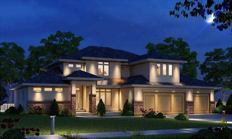 4 Bed Prairie Style House Plan