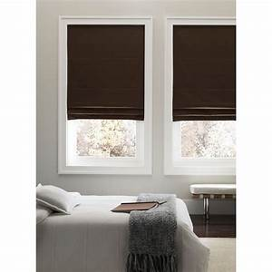 real simple cordless 23 inch x 72 inch fabric roman shade With cordless roman shades for windows