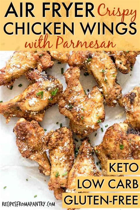 fryer chicken wings air crispy keto recipes carb low parmesan recipesfromapantry fried healthy gluten easy pleasing crowd friendly airfryer dinner