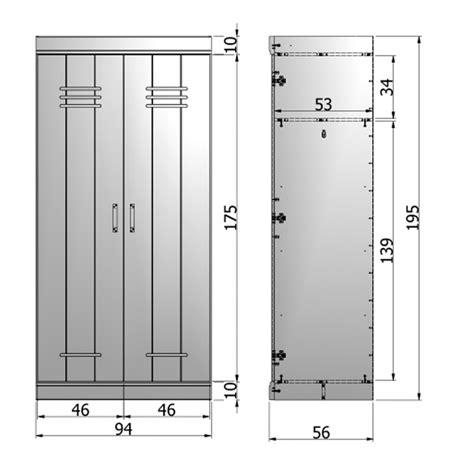 dimension porte chambre armoire connect 2 portes look vestiaire industriel