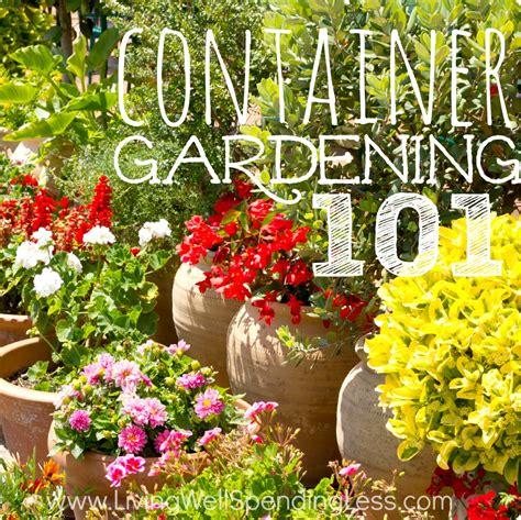 Container Gardening 101 Container Gardening Container