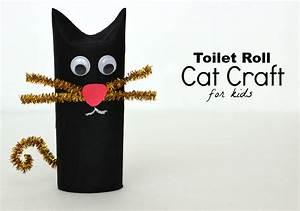 Diy  Toilet Roll Black Cat Craft