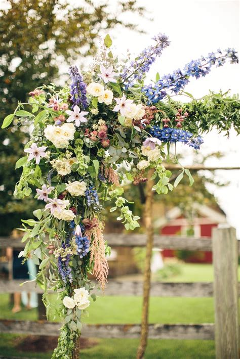 natural wedding arch flowers