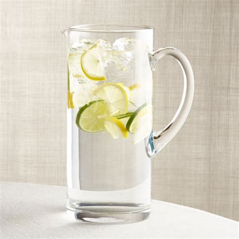 peak  oz glass pitcher reviews crate  barrel