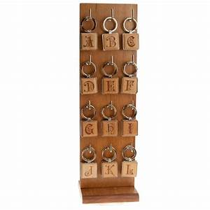 elite monogram intials wood display rack with 3 each of 24 With wooden display letters