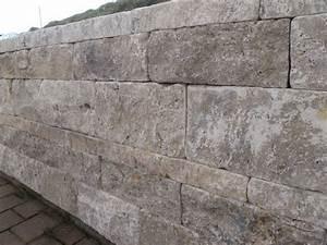 Gartenmauern Aus Naturstein : travertin stein mauer mauersteine grau trockenmauer ~ Sanjose-hotels-ca.com Haus und Dekorationen