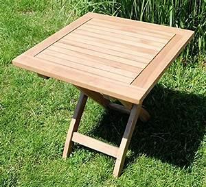 Klapptisch Garten Holz : teak klapptisch holztisch gartentisch garten tisch beistelltisch 45x45cm holz picnic von as s ~ Markanthonyermac.com Haus und Dekorationen