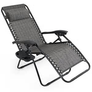 arksen gray zero gravity patio chairs 2 pack