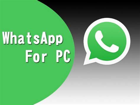 whatsapp for pc free