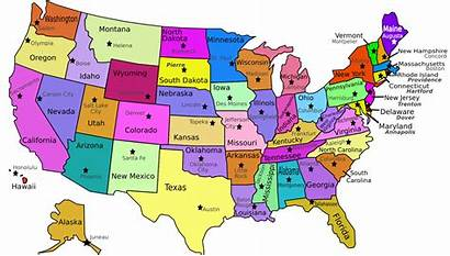 Labeled States Map Usa Capitols State Printable
