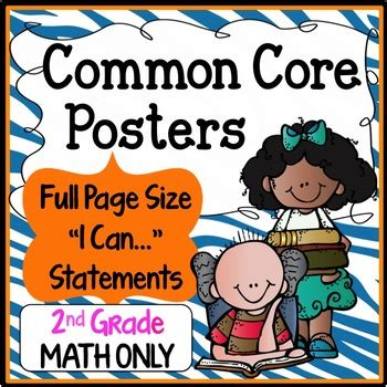Common Core Posters Full Page (2nd Grade)  Math Only Tpt