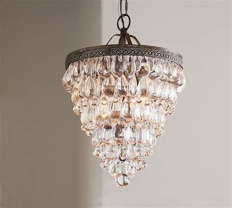 drop chandeliers clarissa drop small chandelier pottery barn