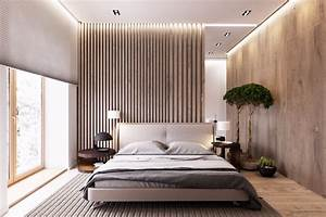 Master Bedrooms with Striking Wood Panel Designs – Master