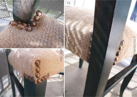 tapisser une chaise en tissu relooker une chaise le coin bricolage de vérobrico