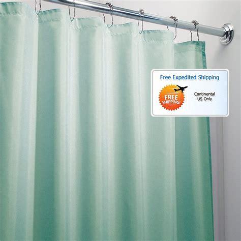 aqua bathroom shower curtain 72 x 72 mold mildew free