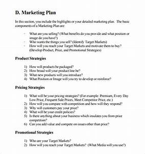 sample marketing business plan template 12 free With corporate marketing plan template