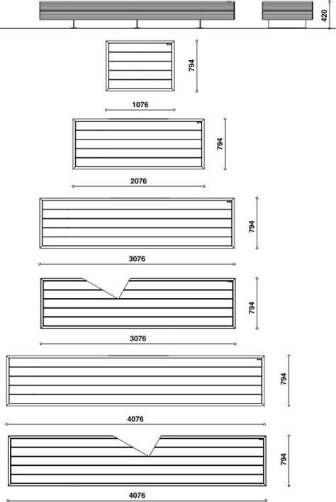 Dimensioni Panchine by Panchine Spazi Pubblici Big Harris Metalco