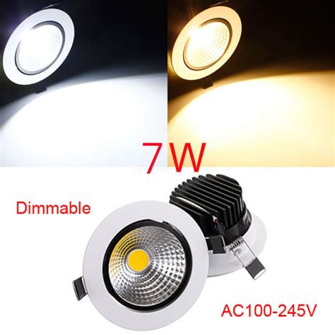 dimmable led recessed lights buy 7w dimmable cob led recessed ceiling light fixture