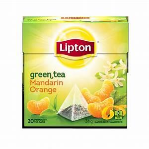 Lipton Green Tea Mandarin Orange Pyramid Tea Bags reviews ...
