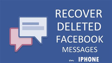 how to recover deleted iphone messages how to recover deleted messenger messages on